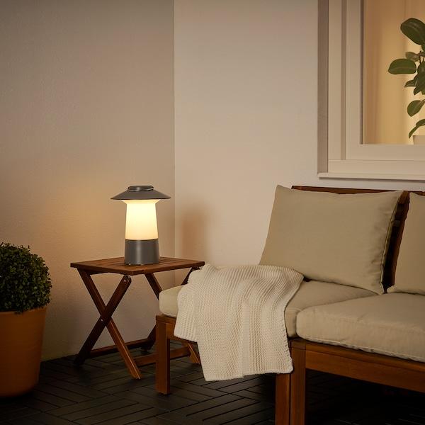 SOLVINDEN LED solar-powered lantern, dark grey