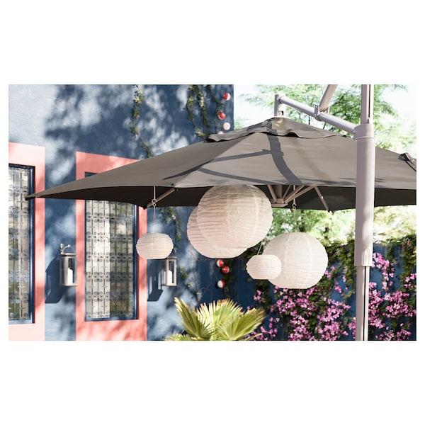 SOLVINDEN LED solar-powered pendant lamp, outdoor/globe white, 45 cm