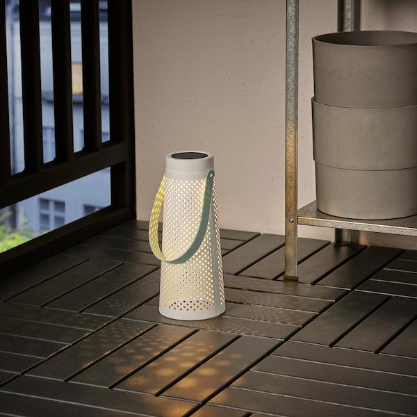 SOLVINDEN LED solar-powered table lamp, cone-shaped white, 27 cm