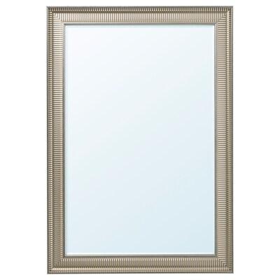 SONGE Mirror, silver-colour, 91x130 cm