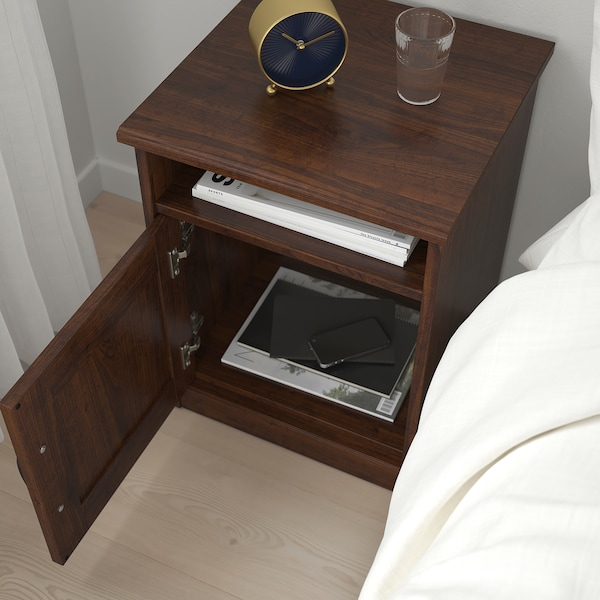 SONGESAND Bedside table, brown, 42x40 cm
