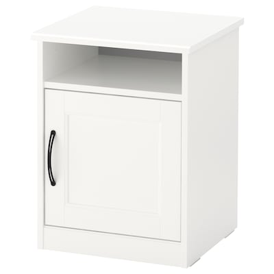 SONGESAND Bedside table, white, 42x40 cm