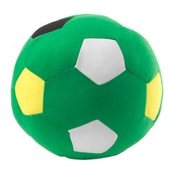 SPARKA soft toy, green football, green