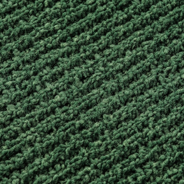 SPORUP Rug, low pile, dark green, 133x195 cm