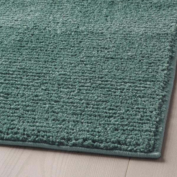 SPORUP Rug, low pile, grey-turquoise, 80x150 cm