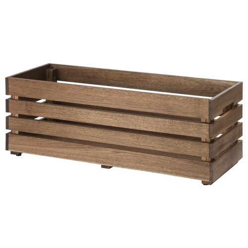 STJÄRNANIS flower box outdoor acacia 75 cm 27 cm 27 cm