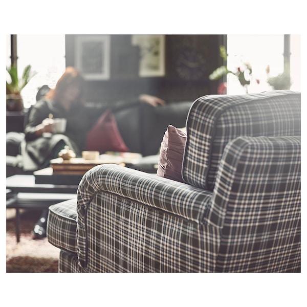 STOCKSUND كرسي بذراعين, Segersta عدة ألوان/بني فاتح/خشبي