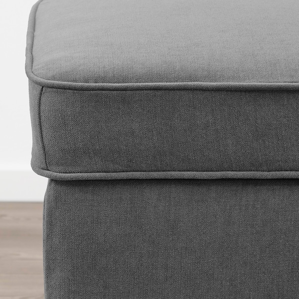 STOCKSUND Bench, Ljungen medium grey/black/wood