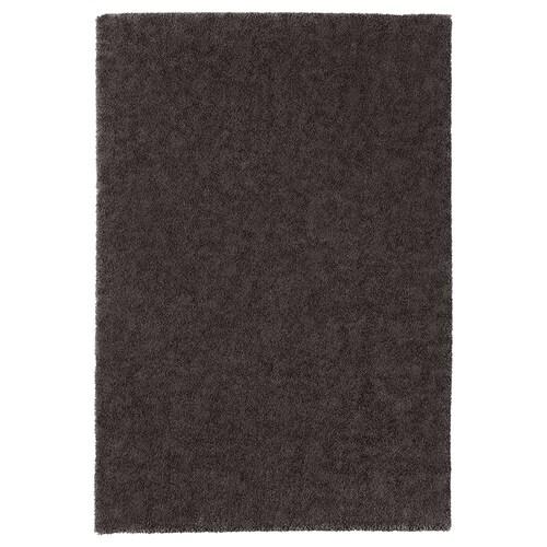 STOENSE rug, low pile dark grey 195 cm 133 cm 18 mm 2.59 m² 2560 g/m² 1490 g/m² 15 mm