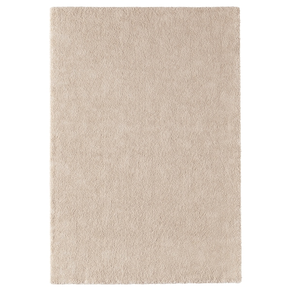 STOENSE Rug, low pile, off-white, 133x195 cm