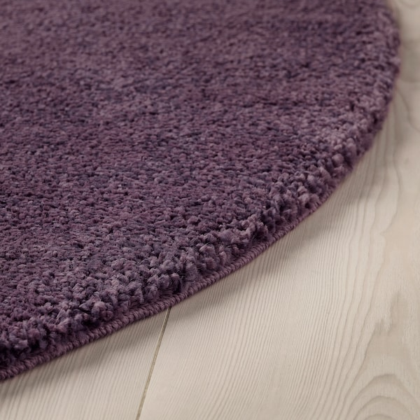 STOENSE Rug, low pile, purple, 130 cm