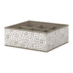 STORSTABBE box with compartments, beige