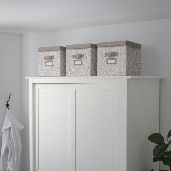 STORSTABBE Box with lid, beige, 30x30x30 cm