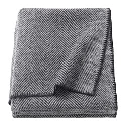 STRIMLÖNN throw, grey