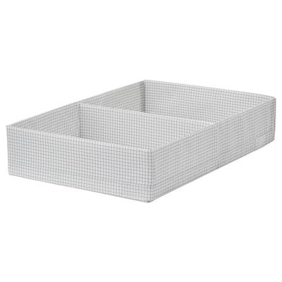 STUK صندوق بحجيرات, أبيض/رمادي, 34x51x10 سم