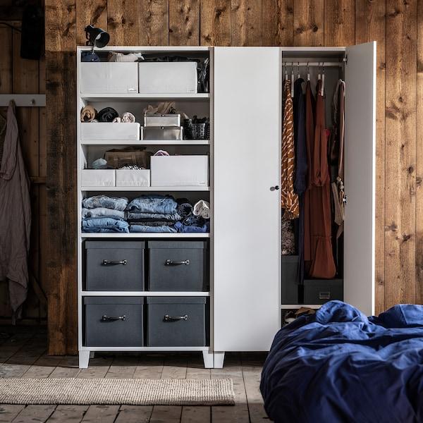 STUK Box with compartments, white, 20x34x10 cm