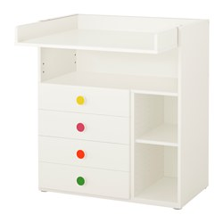 STUVA / FÖLJA changing table with 4 drawers, white
