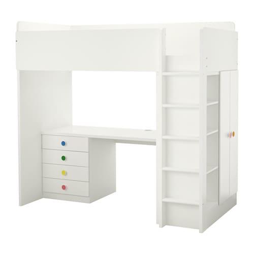 stuva f lja loft bed combo w 4 drawers 2 doors ikea. Black Bedroom Furniture Sets. Home Design Ideas