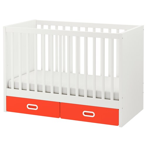 STUVA / FRITIDS cot with drawers red 126 cm 66 cm 86 cm 60 cm 120 cm 20 kg