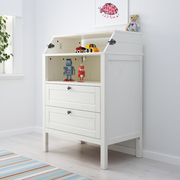 SUNDVIK Changing table/chest of drawers, white