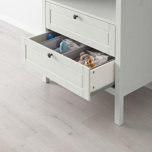 SUNDVIK changing table/chest of drawers white 79 cm 51 cm 87 cm 46 cm 99 cm 108 cm 18 cm 15 kg