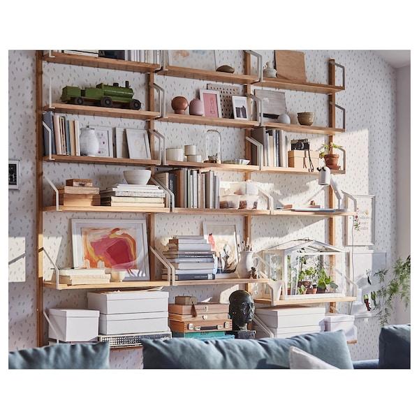 SVALNÄS wall-mounted shelf combination bamboo 193 cm 25 cm 176 cm 15 cm 25 cm