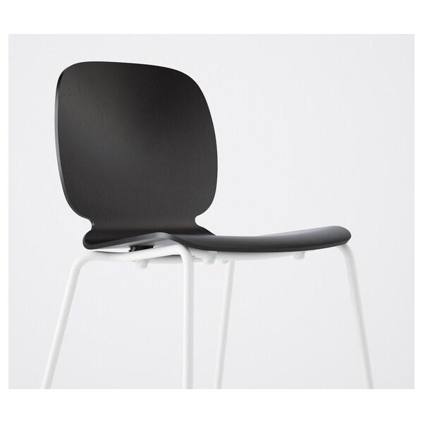 SVENBERTIL كرسي, أسود/Broringe أبيض