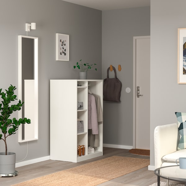 SYVDE open wardrobe white 80.3 cm 48.2 cm 123.1 cm 7.0 cm