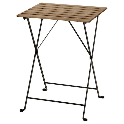 TÄRNÖ table, outdoor black/light brown stained 55 cm 54 cm 70 cm
