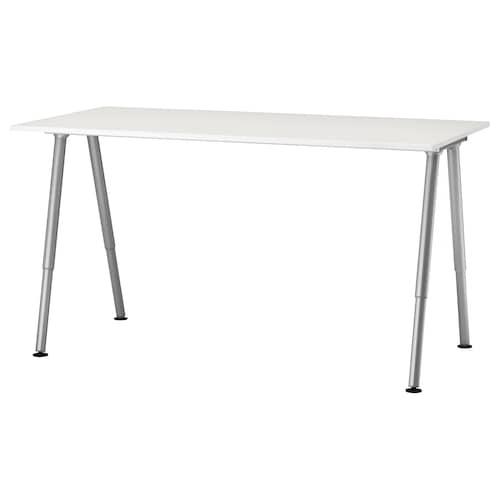 THYGE desk white/silver-colour 160 cm 80 cm 60 cm 90 cm 80 kg