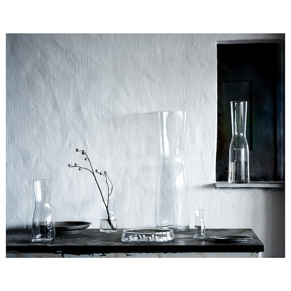 TIDVATTEN مزهرية, زجاج شفاف, 65 سم