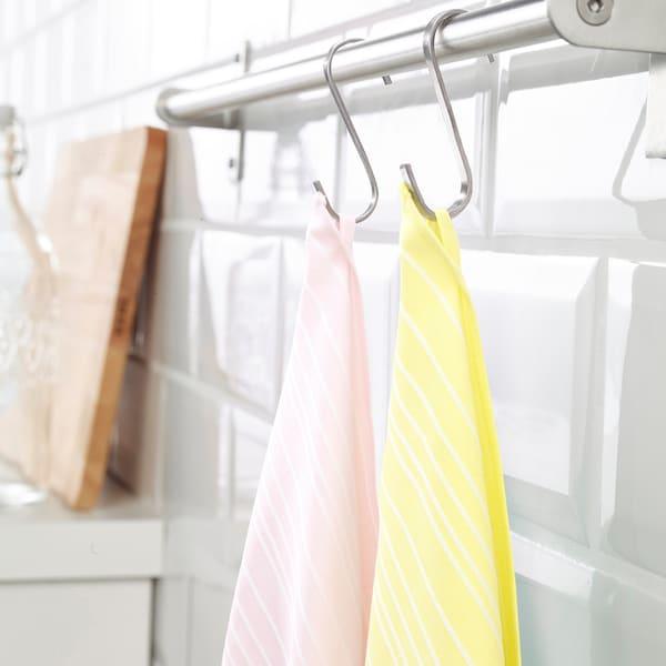 TIMVISARE Tea towel, yellow/light pink, 50x70 cm
