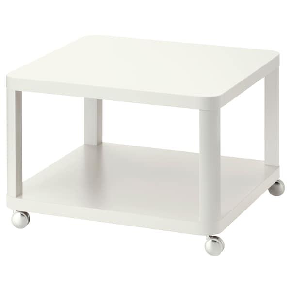 TINGBY Side table on castors, white, 64x64 cm