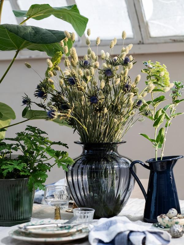 TONSÄTTA vase grey 27 cm