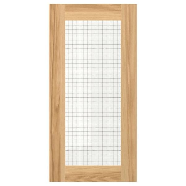 TORHAMN باب زجاج, خشب طبيعي رماد, 30x60 سم