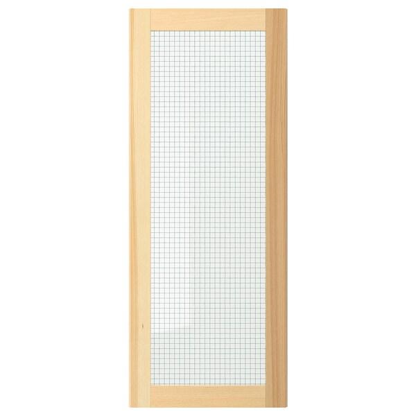 TORHAMN باب زجاج, خشب طبيعي رماد, 40x100 سم