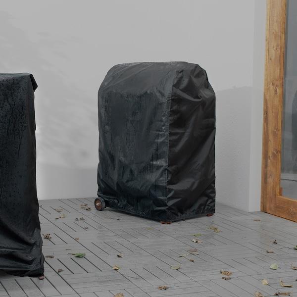 TOSTERÖ cover for barbecue black 72 cm 52 cm 111 cm
