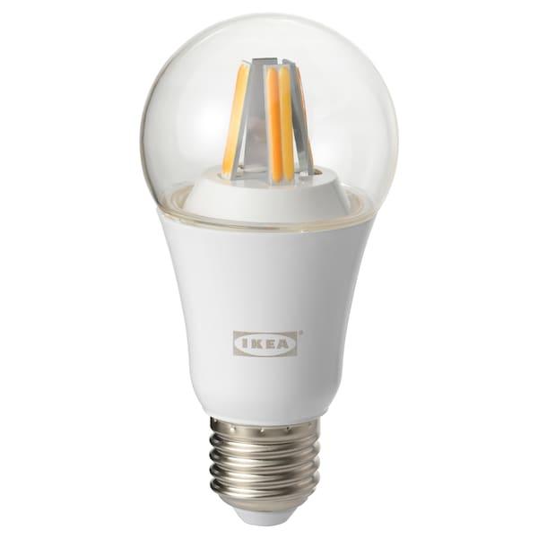 TRÅDFRI LED bulb E27 806 lumen wireless dimmable white spectrum/globe clear 806 lm 2700 K 6 cm 6 cm 12 cm 9.0 W