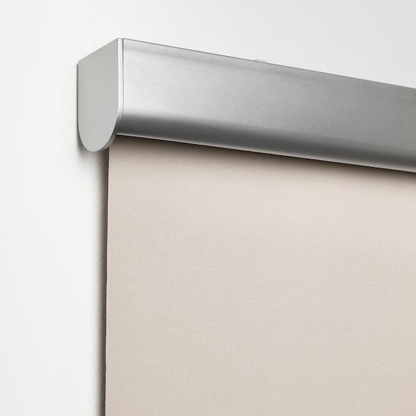 TRETUR Block-out roller blind, beige, 140x195 cm