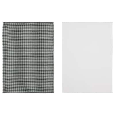 TROLLPIL Tea towel, white/green, 50x70 cm