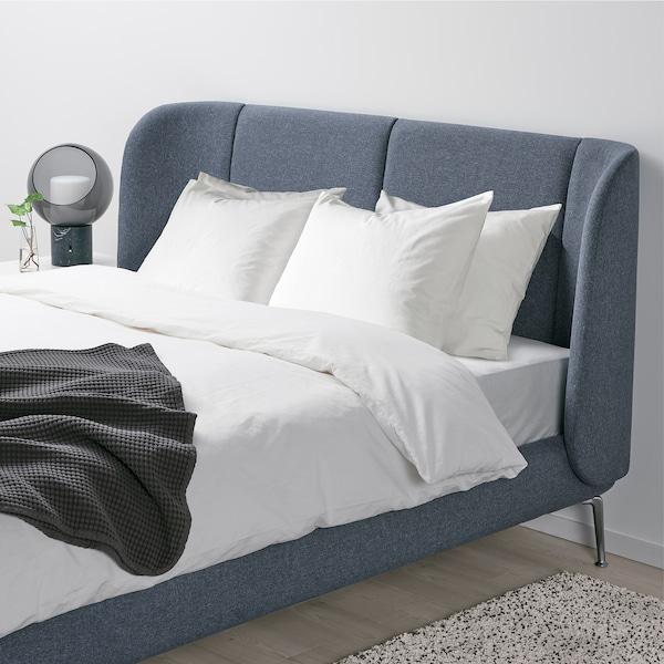 TUFJORD هيكل سرير بتنجيد, Gunnared أزرق, 180x200 سم