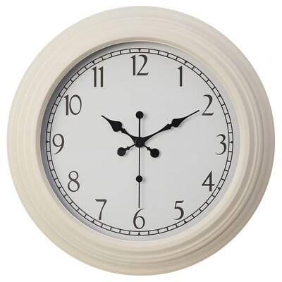 TUGGET Wall clock, beige, 53 cm