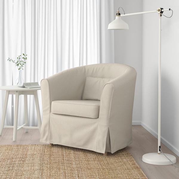 TULLSTA كرسي بذراعين, Lofallet بيج