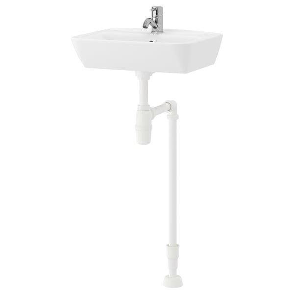 TYNGEN Wash-basin, white/Pilkån tap
