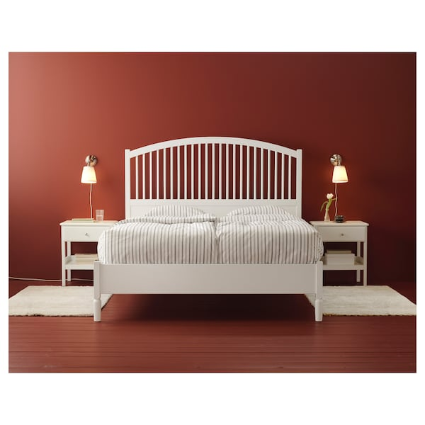 TYSSEDAL Bedside table, white, 51x40 cm