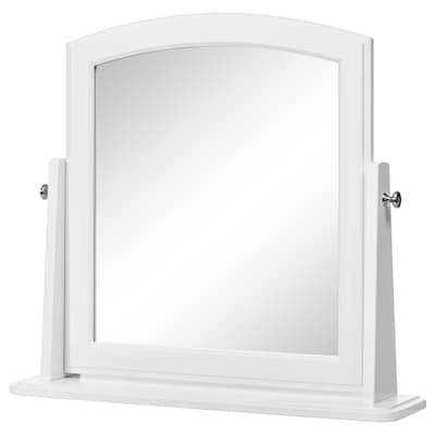 TYSSEDAL Table mirror, white, 63x58 cm
