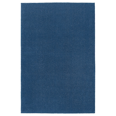 TYVELSE سجاد، وبر قصير, أزرق غامق, 200x300 سم