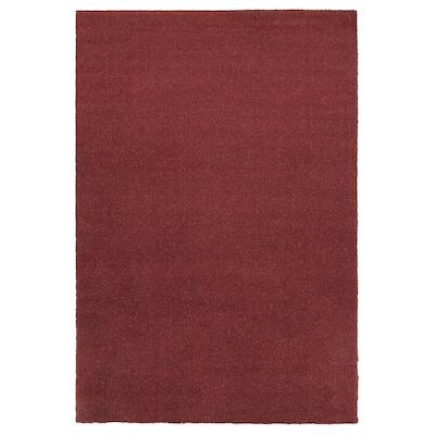 TYVELSE Rug, low pile, dark red, 133x195 cm