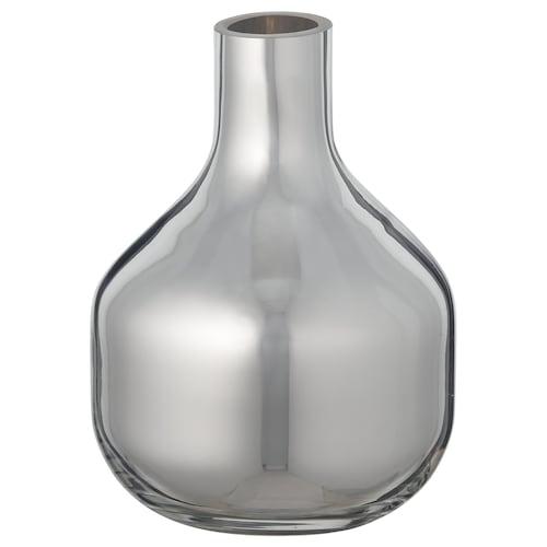UPPGJORD vase silver-colour 9 cm 9 cm 12 cm