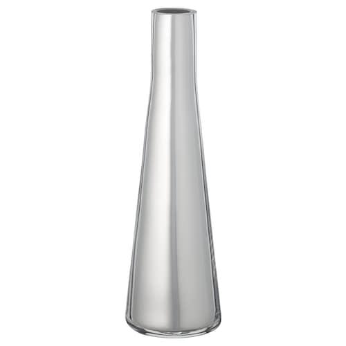 UPPGJORD vase silver-colour 6 cm 6 cm 21 cm